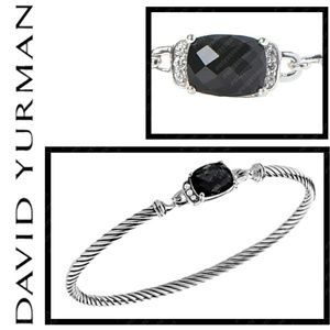 David Yurman Onyx & Diamond Bracelet, sz. M